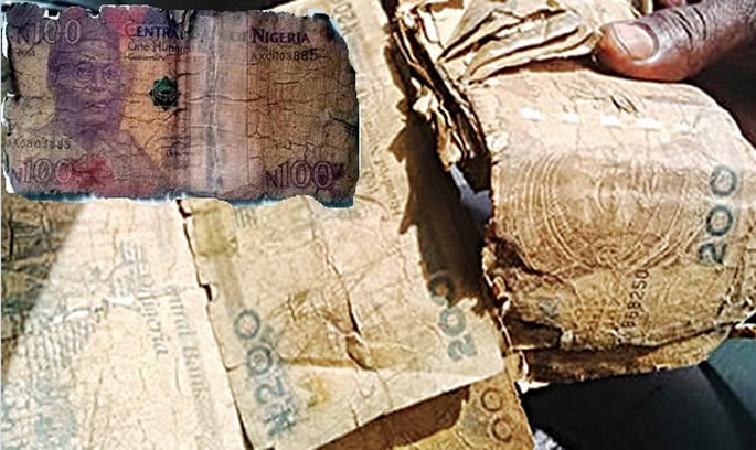 dirty nigeria naira notes